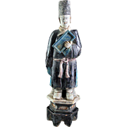 High Quality 49 cm. tall Chinese Ming Dynasty pottery figure!