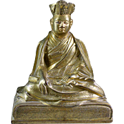 High Quality Sino-Tibetan bronze figure of a Lama!