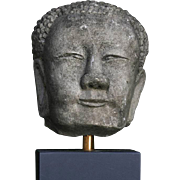 Rare Tang Dynasty sculptural Chinese stone head of monk!