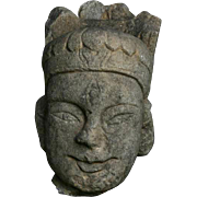 Fine sculptural Chinese stone head, Tang Dynasty!