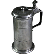 A fine British Pewter tankard or stein mug!