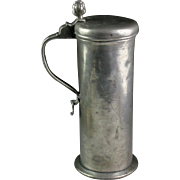 Exceptional large and Early German Pewter beer tankard or stein!