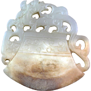 Interesting Chinese White Nephrite jade carving of an axe