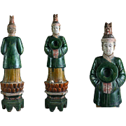 Superb XXL Chinese female Ming pottery figure on lotus throne!
