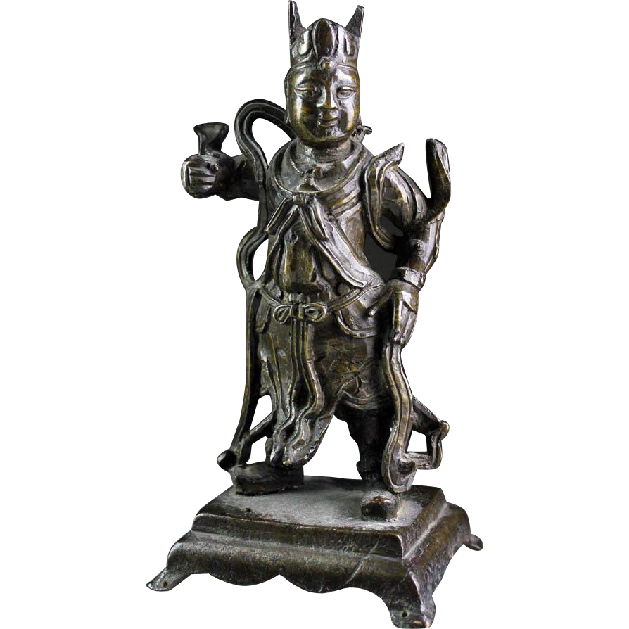 Superb Chinese bronze Guardian figure, Ming Dynasty 16/17th.cent