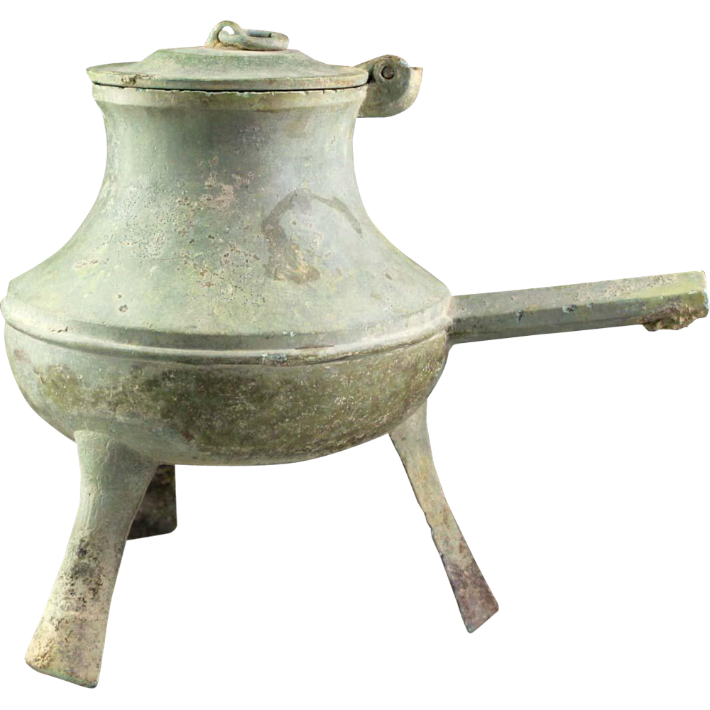 Superb Dong Son culture bronze tripod vessel, Han period!