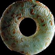 High Quality Chinese Jadeite Bi Disc Jade pendant!