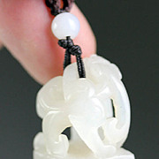 High quality Chinese pure white Nephrite Jade carving of seal!