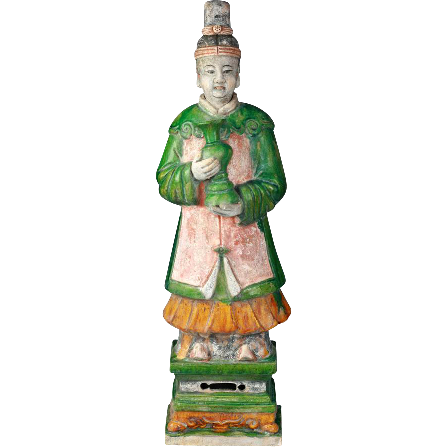 Important XL Ming Dynasty Tomb pottery figure - 62-63 cm.!