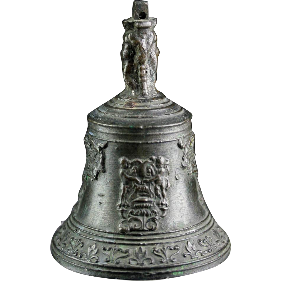 Very rare and superb Early European Baroque bronze bell!