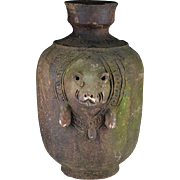 Rare large Jar w. pig, Khmer-Thai Empire, Angor period 12th. Cent.