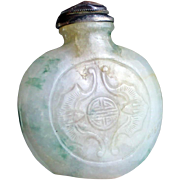 Exceptional quality antique Chinese Jadeite bottle, Qing Dynasty!
