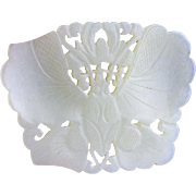 Finely carved openwork Chinese Jade Nephrite pendant of butterfly!