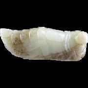 Impressive Chinese Nephrite Jade pendant of a Cicada!