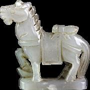 Beautiful Chinese Nephrite Jade pendant of a Horse!