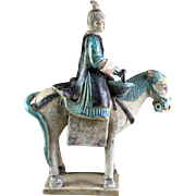 Superb Chinese Female pottery rider Ming Dynasty / w TL test!