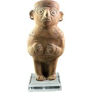 Large Pre-Columbian, Moche Pottery Figure of a standing Woma