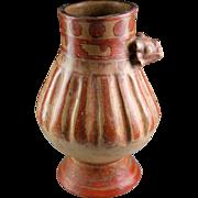 Exceptional Jaguar Shaman pre columbian pottery vessel, Guanacaste