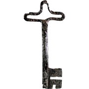 Huge important Medieval Iron Church Gate Key, 13th.-14th. century!