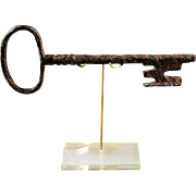 Large iron Gate key, Late Medieval ca. 1400-1450 AD