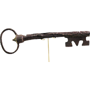 Huge European Gothic Medieval Iron Gate key, 14th.-15th. century.