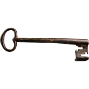 A XXL European Iron Gate Key, 17th. century
