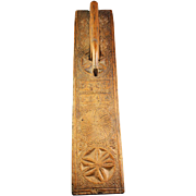 Exceptional Danish Horse handle Oak Mangle Board, ANNO 1812!