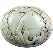 Exceptional Chinese Celadon Nephrite Jade belt Buckle!