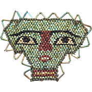 Beautiful ancient Egyptian Mummy Bead mask, late period 600 BC
