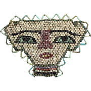 Very large Egyptian Mummy Bead mask, late period 600 BC