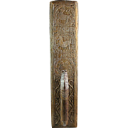 Rare early Danish Horse handle Oak Wood Mangle Board 1783!