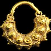 Fine elaborate Roman Gold Earring, ca. 3rd. century AD
