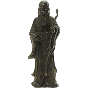 Rare large Chinese bronze figure of Shou Lao, Ming Dynasty!