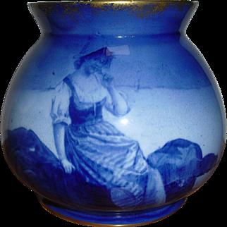 Royal Doulton much sought after 'Blue Children' Vase