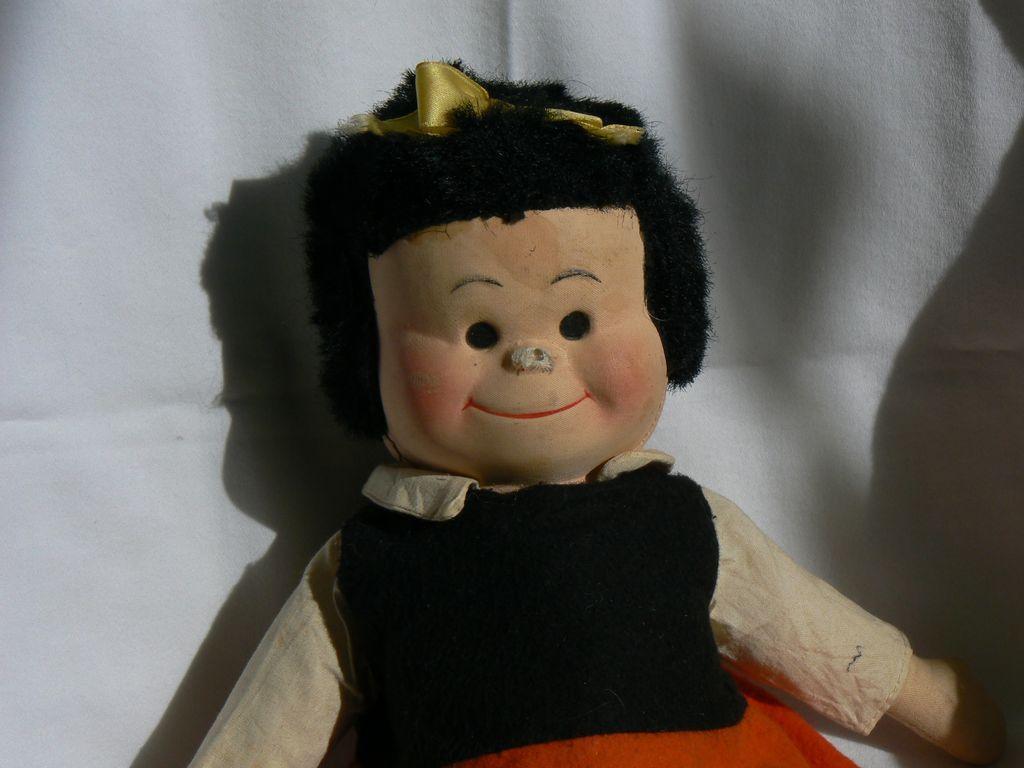 Georgene Novelties Cloth Nancy Doll like Little Lulu