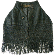 EARLY Baby/Child Mourning Cape or walking cape.