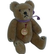 Vintage German Hermann Teddy Bear with two Tags Tiny and Sweet.