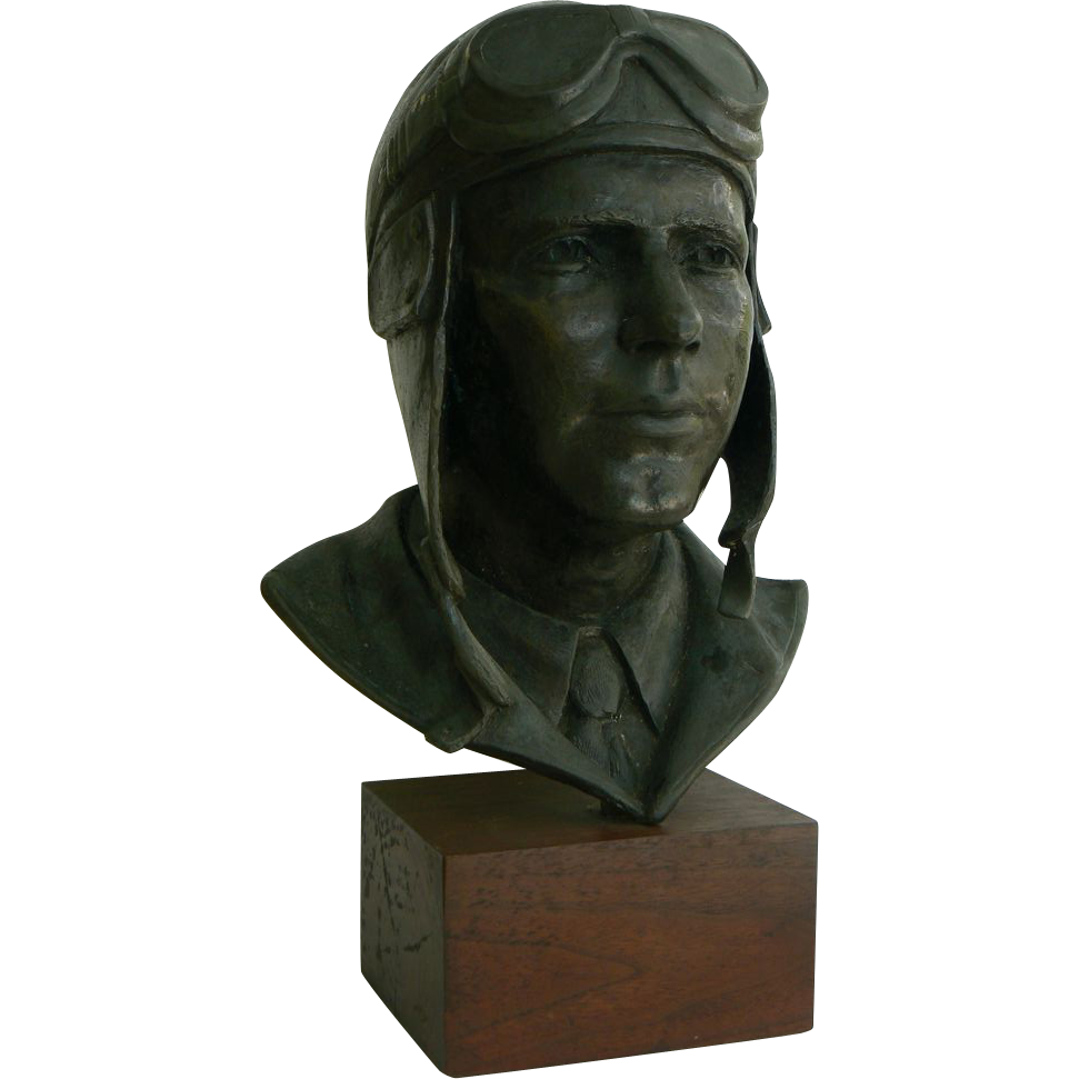 Bronze Bust Charles A. Lindbergh Don F. Wiegand #37 of 105