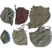OLD Collecton of 54 Baby Bonnets or Doll Bonnets Must See