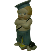 German Bisque Boating Boy doll figurine sweet