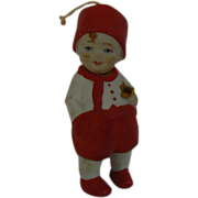 German Bisque Nodder Boy on Red CUTE LooK !!!!!!!