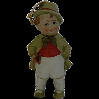 German Bisque Nodder Boy in Green outfit, sweet.