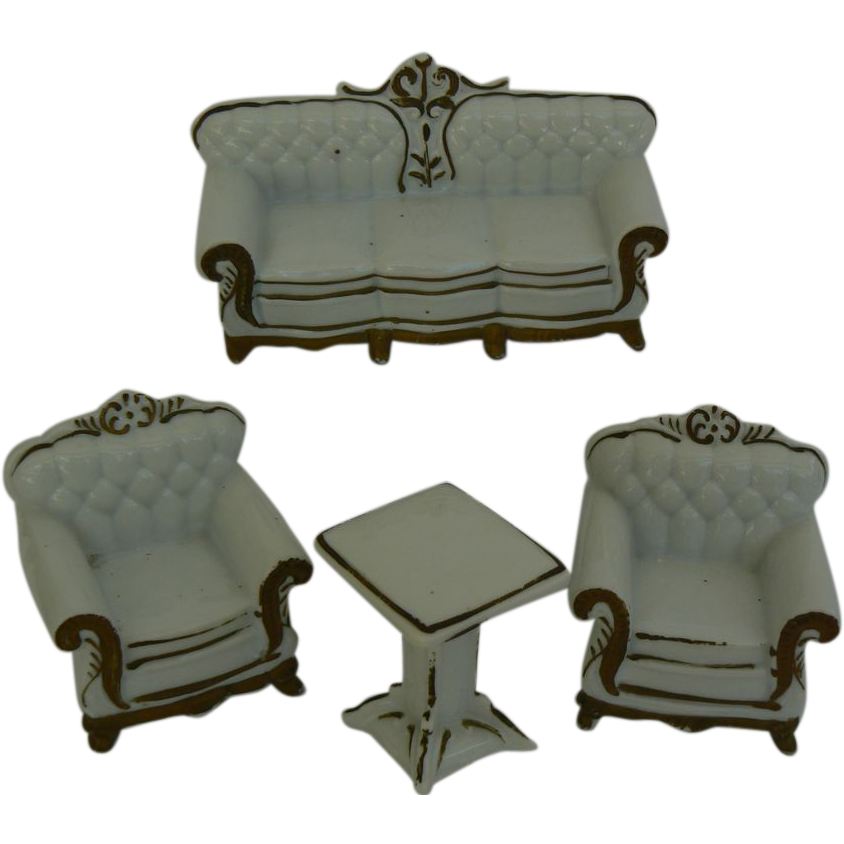 4 piece doll house size china sofa chairs and table set for Chinese furniture for sale cape town