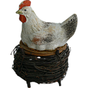 Very Old Chicken on Nest Candy Container must see.