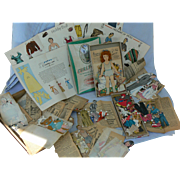 Vintage 1950's Paper dolls whole box full.... all from the 50's Look.