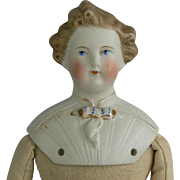 Old Parian China head doll, man or young boy sweet.
