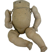 Vintage German composition Baby body with Neck plug.