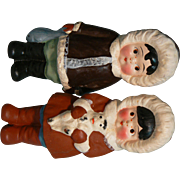 Vintage Painted Bisque Eskimo Pair Boy & Girl Near mint and marked Japan.