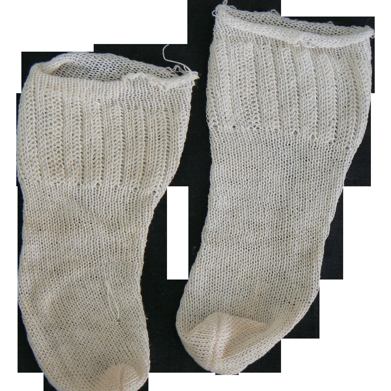 Old Pair of doll socks vinatge.