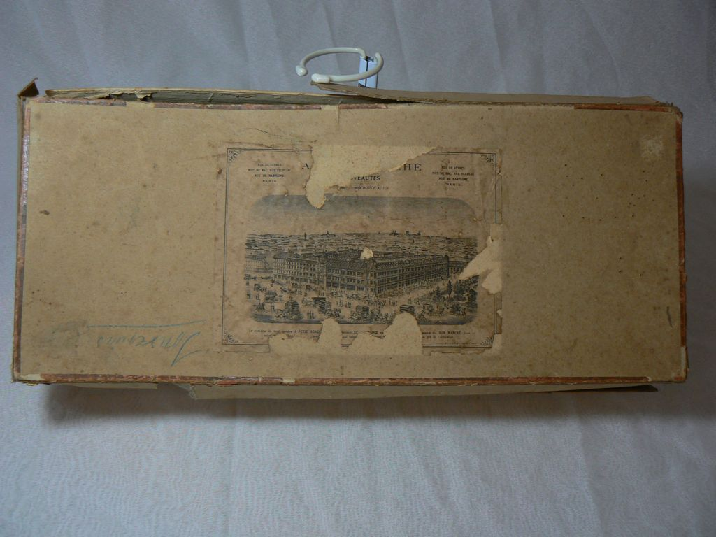 Vintage Antique French Doll Box Rare  Must see.